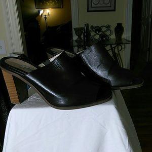 Clarks heeled mules